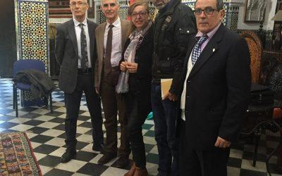Ahmed M Mgara, Moufid Atimou, Matilde Cabello, Manuel Gahete y José Sarria (Tetuán, 2016)