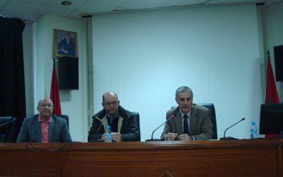 Ahmed Oubali, Mezouare El Idrissi y José Sarria (Tánger, 2015)