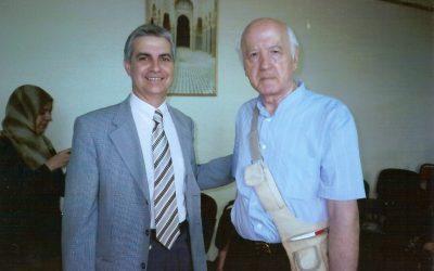 El hispanista y arabista Rodolfo Gil Grimau con José Sarria (Fez, 2007)