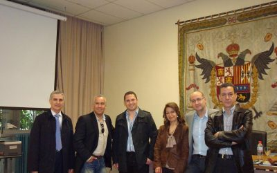 José Sarria, Abderrahman El Fathi, Enrique Lomas, Rachida Gharrafi, Carmelo Pérez y Aziz Tazi (Granada, 2011)