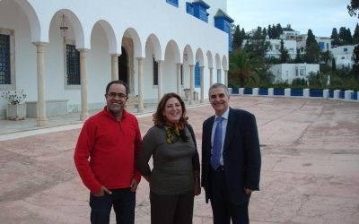 Raja Yassine Bahri, Abdul Hadi Sadoun y José Sarria (Túnez, 2011)