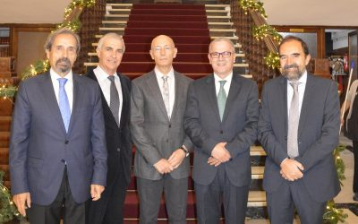 D. Farid Aoulouhaj, Jefe de Misión adjunto de la Embajada del Reino de Marruecos en España, durante la inauguración del Congreso La Frontera Líquida (Córdoba, noviembre, 2019).
