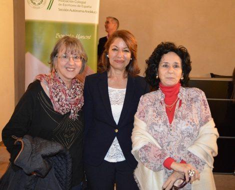 Pilar Quirosa, Rachida Gharrafi y Paloma Fernández Gomá (Granada, 2015)